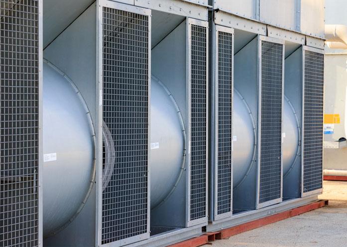 Ammonia refrigeration condenser